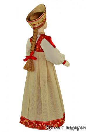 Подарок в коллекцию кукла в московском наряде