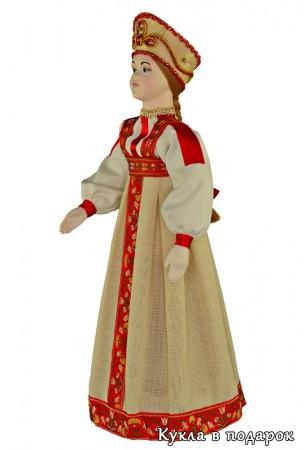 Сувенир из Москвы русская кукла ручной работы