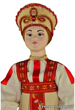 Недорогая московская кукла с фарфоровой головой и руками
