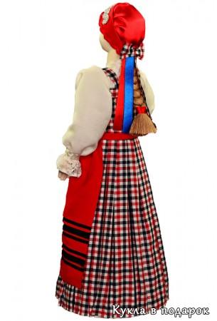 Ручная работа кукла в архангельском костюме