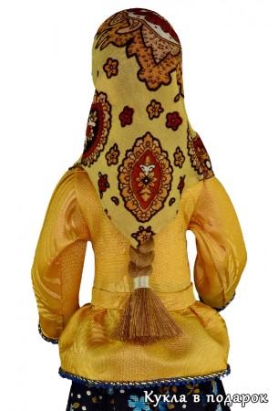 Вологодский подарок кукла с косой и в платке