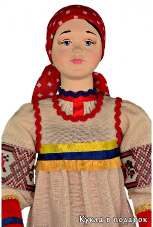 Кукла женщина курянка в курской одежде