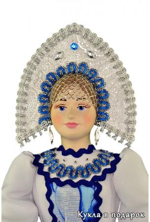 Ручная роспись лица по фарфору интерьерной куклы
