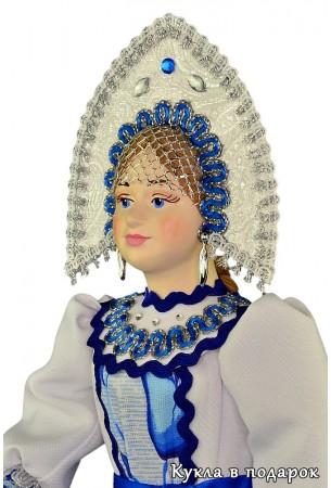 Фарфоровая голова интерьерной куклы фото