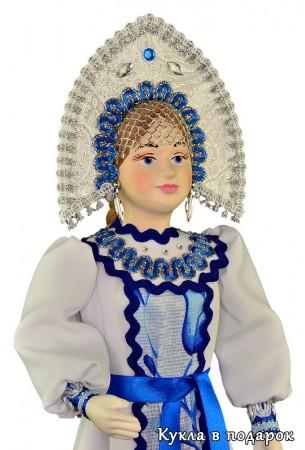 Русская интерьерная кукла в кокошнике