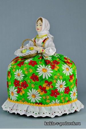 фото зеленая кукла в подарок на Пасху