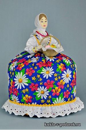 фото синяя кукла подарок на Пасху