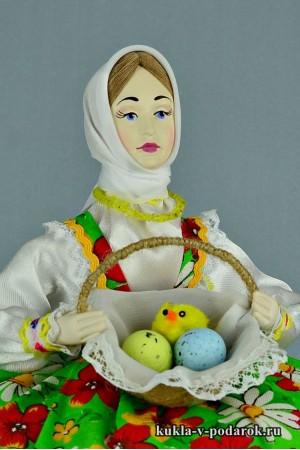 фото подарок на Пасху кукла с яйцами