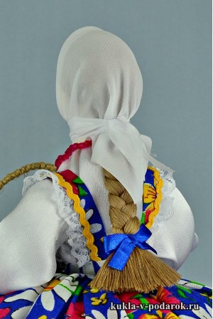 фото подарок на Пасху рукодельная кукла