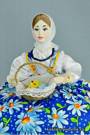 фото подарок на Пасху красивая кукла