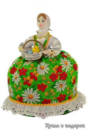 Пасхальная кукла грелка в подарок на кухню