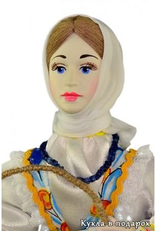 Лицо ручной росписи фарфоровой пасхальной куклы