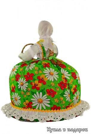 Кукла в зеленом платье подарок на Пасху