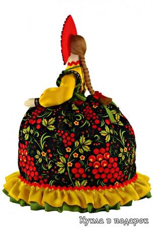 Авторская кукла Хохлома в русском стиле