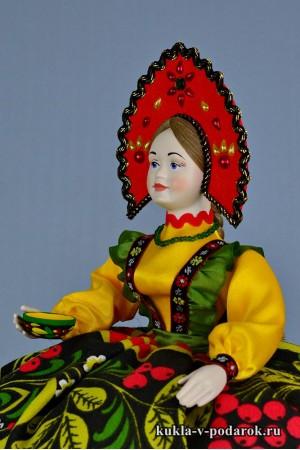 Кукла Хохлома подарок иностранцу
