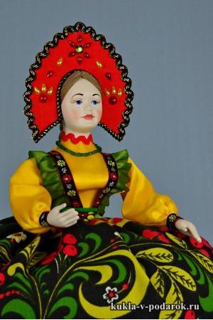 Хохлома кукла ручной работы