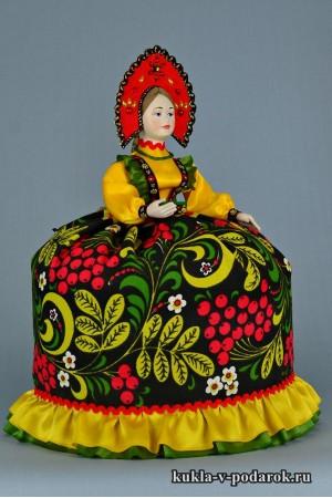 Кукла Хохлома подарок из Москвы