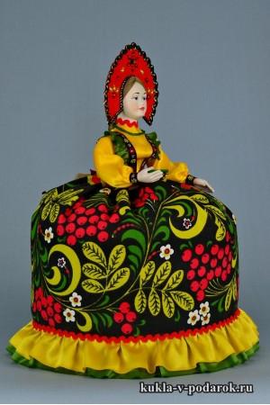 Кукла Хохлома московский сувенир