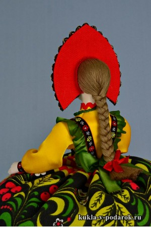 Кукла Хохлома русский стиль