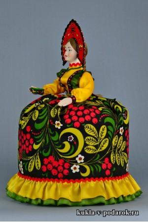 Кукла Хохлома грелка на чайник