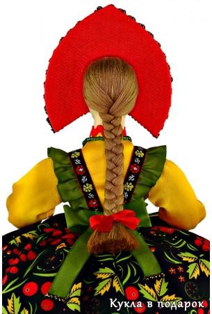 Русская народная кукла Хохлома с косой
