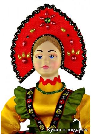 Красивый подарок кукла Хохлома из Москвы