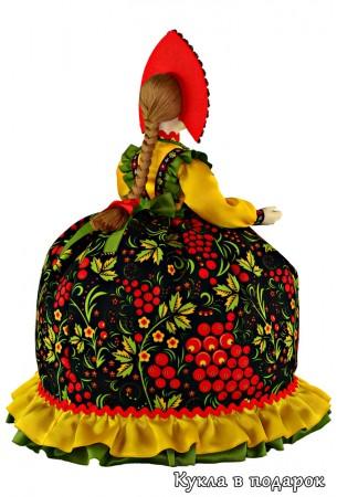 Подарок кукла Хохлома на чайную посуду