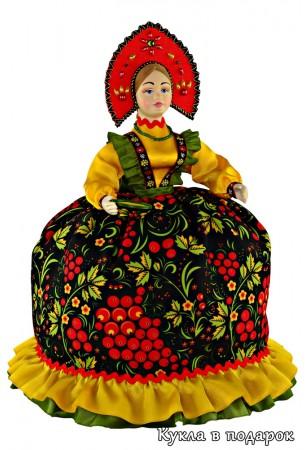 Ручная роспись кукла Золотая Хохлома