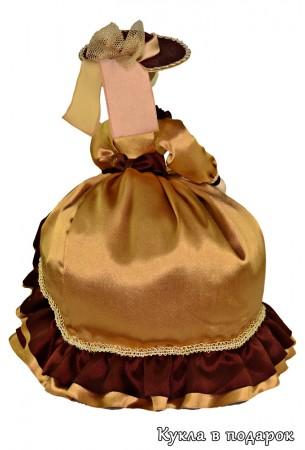 Шляпа и ленты на шляпке куклы на заварочный чайник