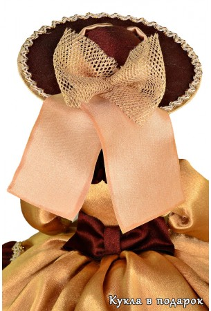 Большая круглая шляпа куклы для заварного чайника