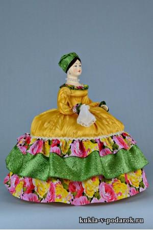 фото Купчиха на чайник кукла авторской работы