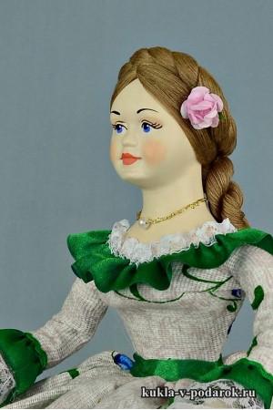 Кукла с зонтиком из фарфора