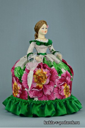 Хендмейд кукла с зонтиком handmade