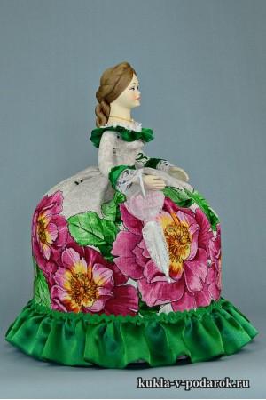 Кукла с зонтиком московский сувенир