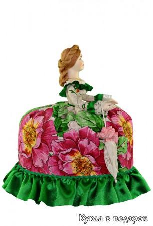 Кукла с красивым зонтиком московский сувенир