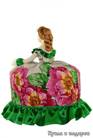 Кукла грелка на чайник с зонтиком