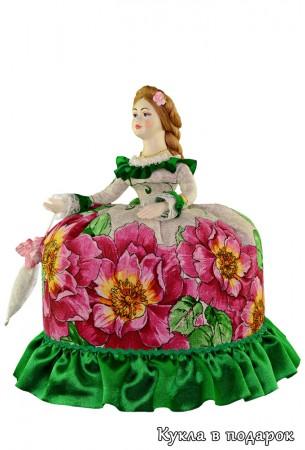 Кукла с зонтиком подарок на кухню к чаю