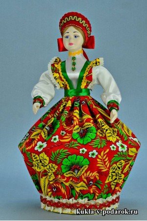 Фото русская кукла шкатулка в народном стиле