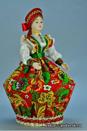 Фото русская шкатулка кукла с фарфоровой головой и руками