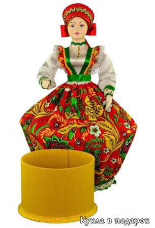 Шкатулка круглая коробочка в кукле