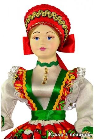 Для хранения часов шкатулка русская кукла ручной работы