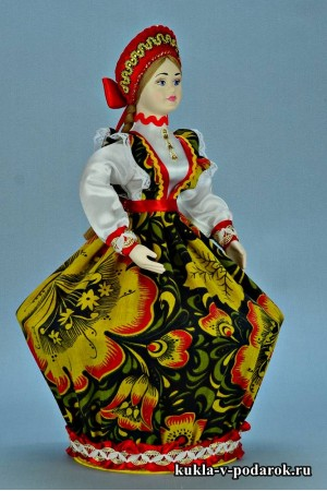 Фото шкатулка в подарок кукла ручной работы