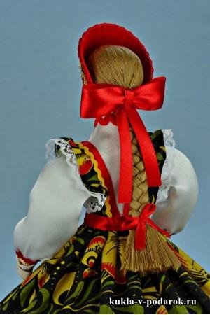 Фото шкатулка в подарок кукла с красным бантом