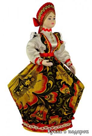 Подарок для мамы кукла шкатулка в стиле Хохлома