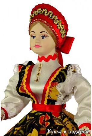 Шкатулка для хранения колец русская кукла в подарок