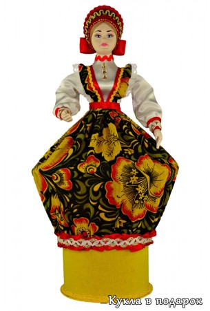 Круглая коробочка внутри куклы шкатулки в подарок
