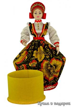 Кукла шкатулка внутри коробочка для бижутерии и мелочей