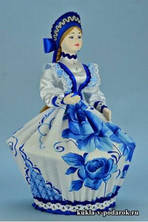 Фото шкатулка ручной работы белого и синего цветов