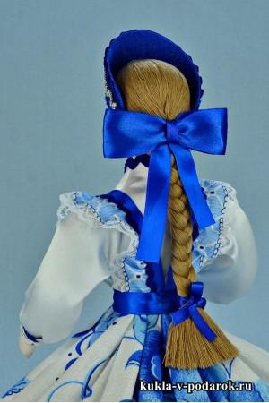 Фото шкатулка ручной работы с синим бантом