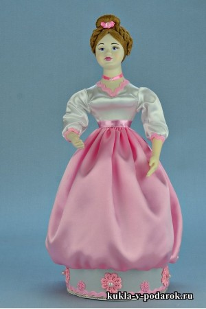 Фото красивая шкатулка розовая кукла хенд мейд